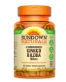 Sundown Naturals Ginkgo Biloba Standardized 60 mg, 100 таб